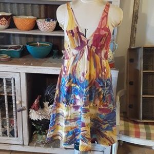 Colorful silk dress